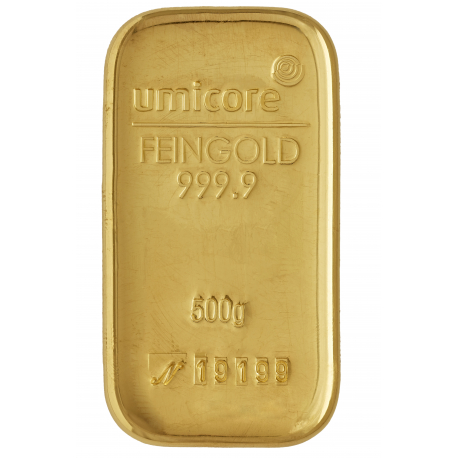 500 grammes d'or Umicore