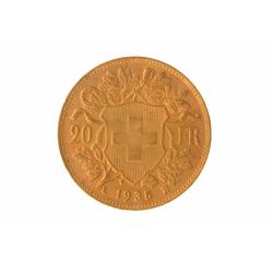 Wissel uw kilo goud tegen 168,5 Vreneli (2,25%)