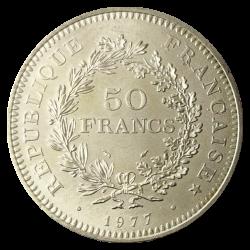 50 Francs Hercule in silver (France)