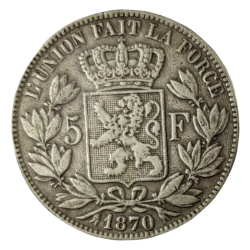 5 Francs Léopold II en argent (Belgique)