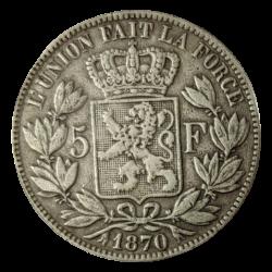 5 Francs Léopold II in zilver (België)