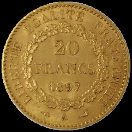 20 francs napoléons Ange avers revers