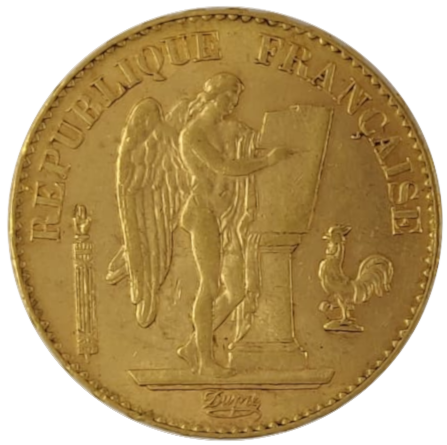 20 francs napoléons Ange avers