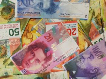 De Zwitserse frank verzwakt